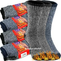3-12 Pairs Mens Heavy Duty Winter Warm Thermal Heated Work C