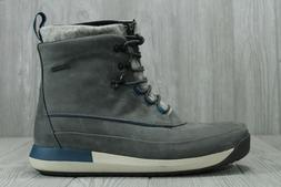 34 Clarks Johto Rise GTX Leather Winter Boots Grey Gore-Tex