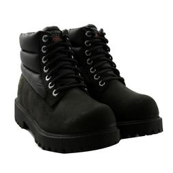 boots winter verno leather men black memory