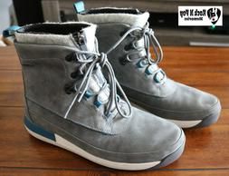 Clarks Johto Rise Boots  Leather Gore Tex Waterproof Gray Wi