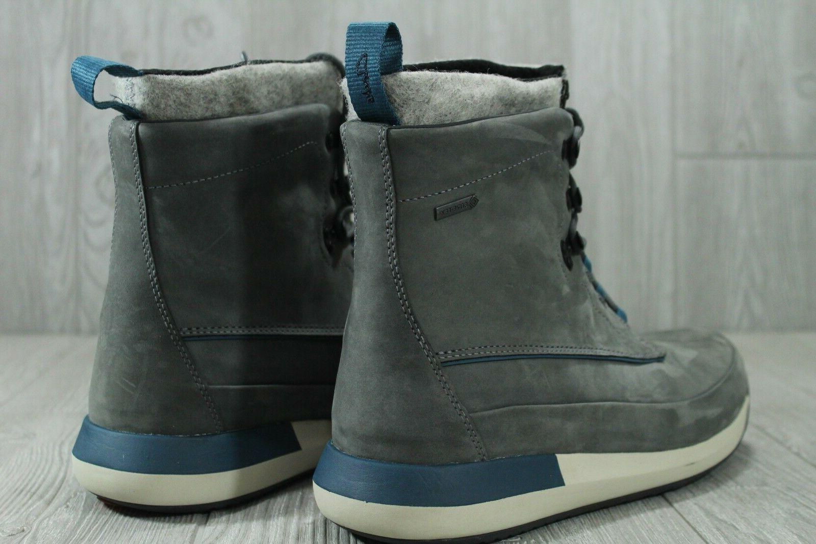 GTX Leather Winter Boots Grey Gore-Tex 12