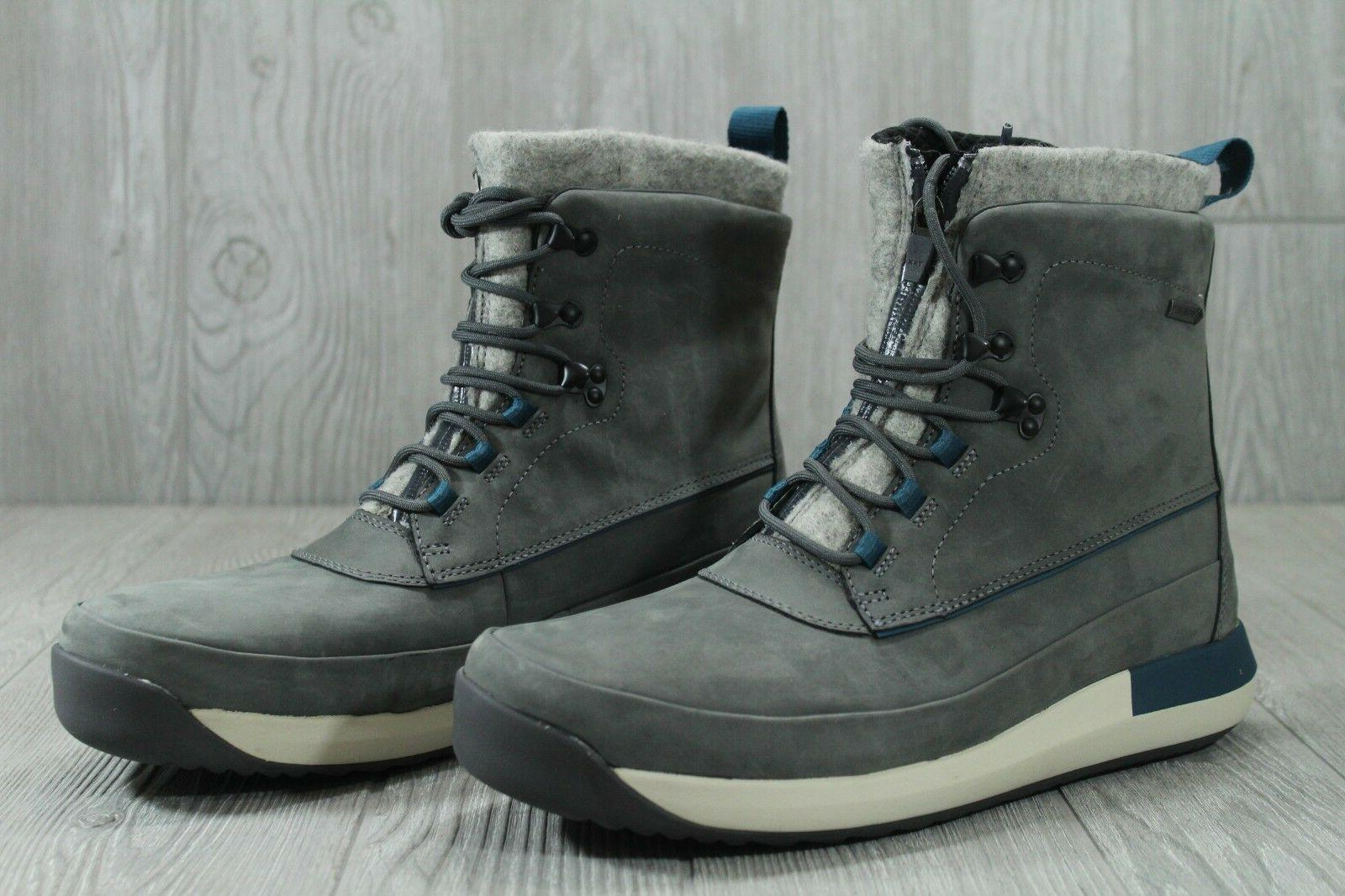 34 GTX Leather Winter Boots Grey 12