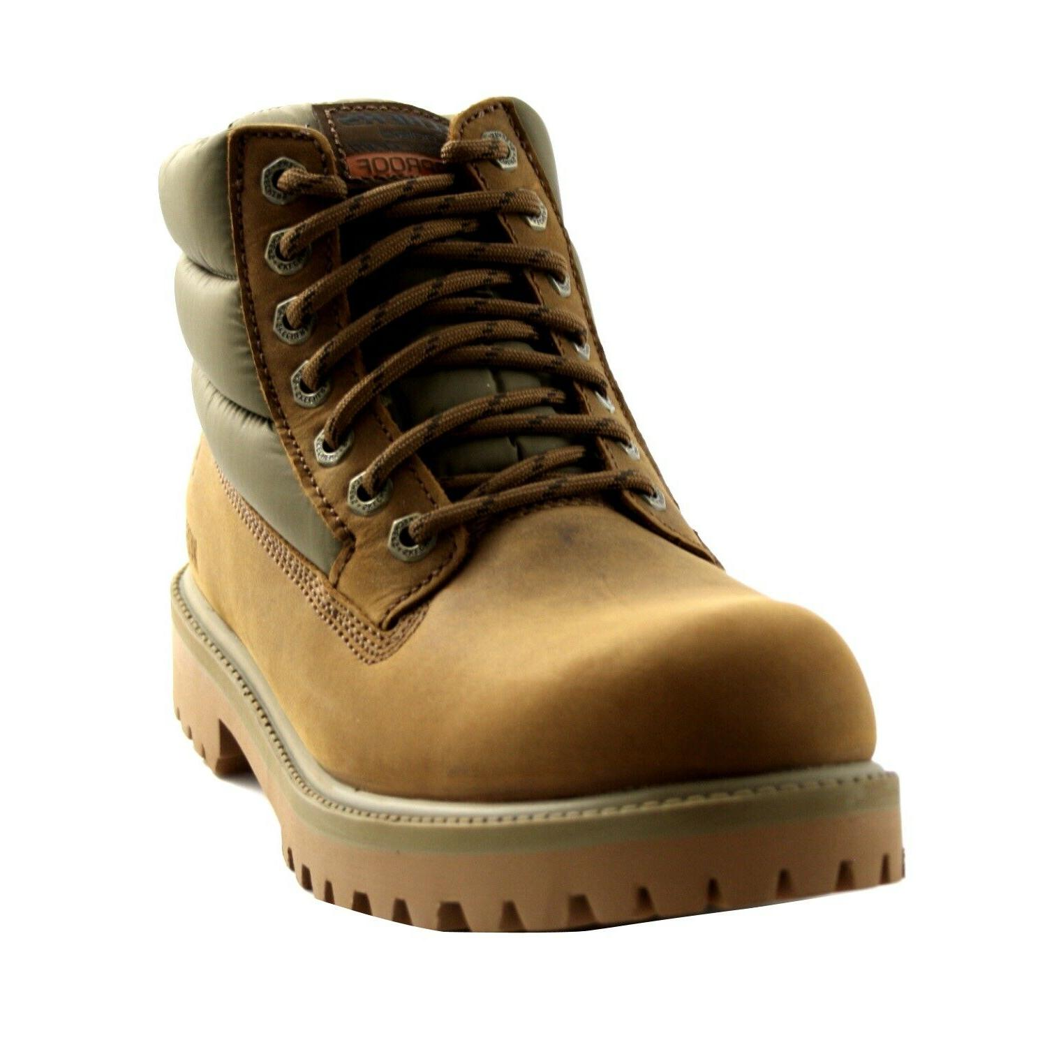 Boots Leather Brown Memory Foam Upturn