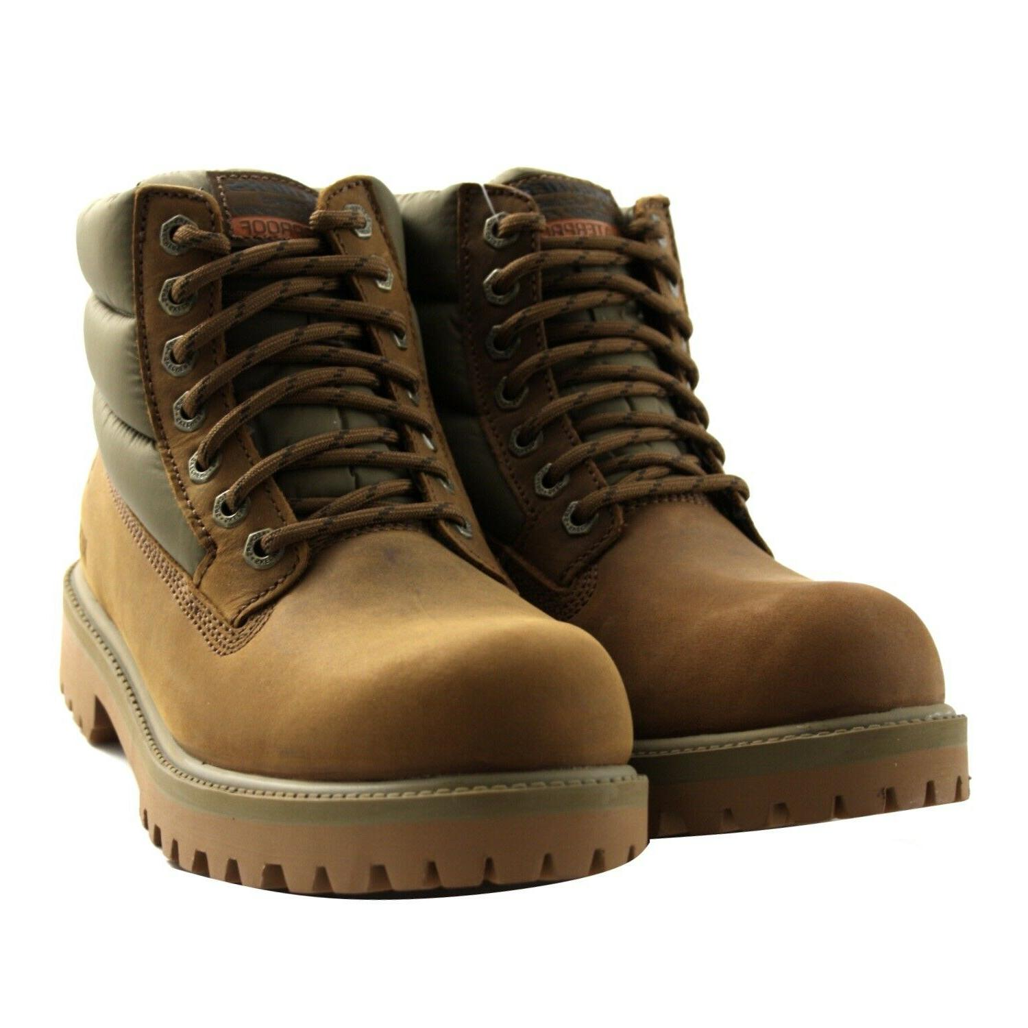 boots winter verno leather men brown memory