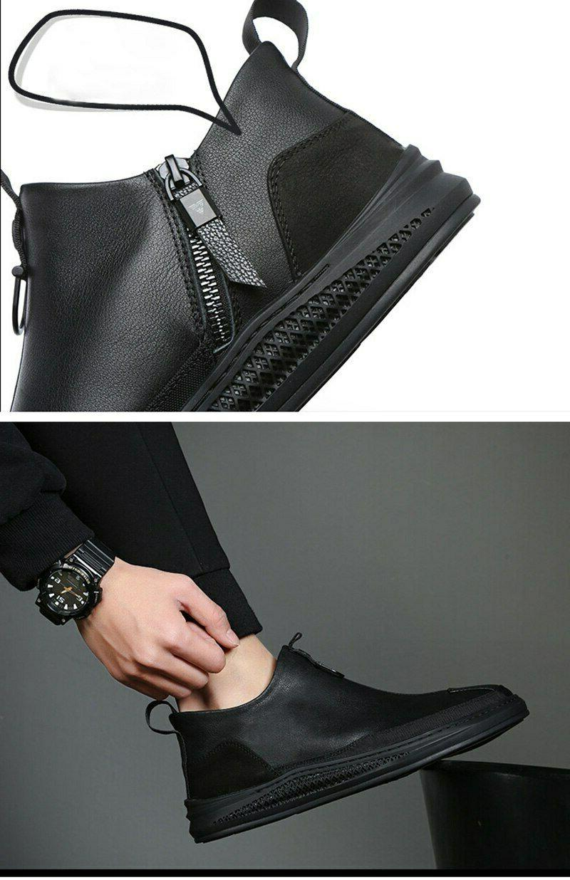 Fashion Early Men Ankle Round Chelsea Shoes