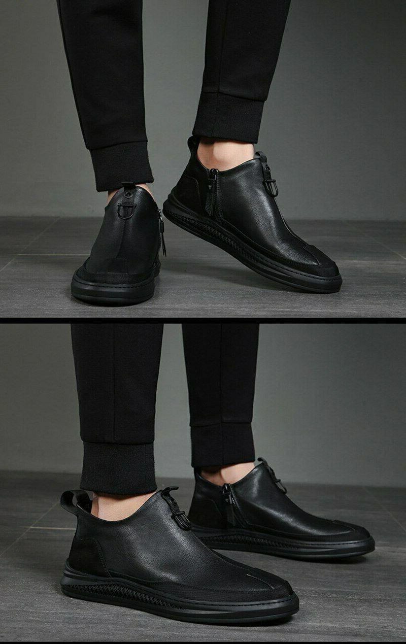 Fashion Ankle Male Round Zip Shoes