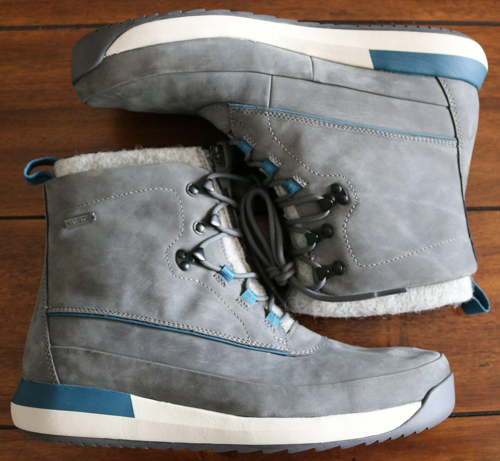 Clarks Rise Leather Waterproof Gray Winter/Snow