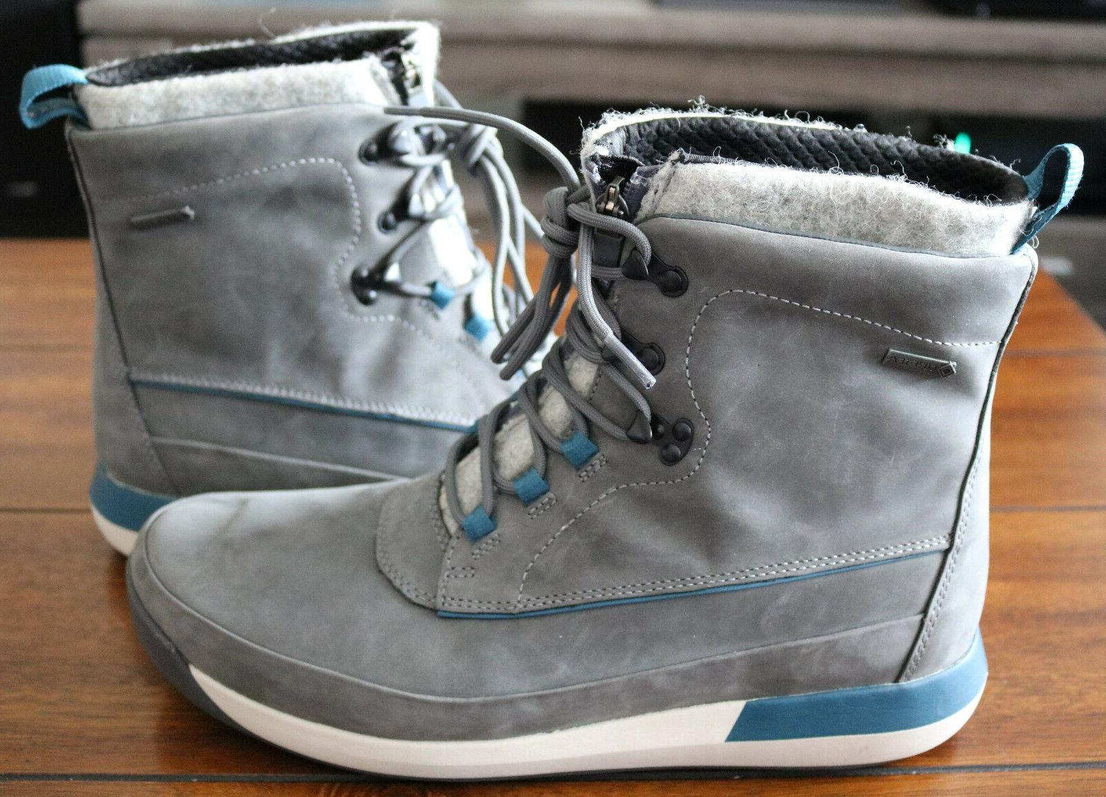 Clarks Johto Rise Boots Leather Gray