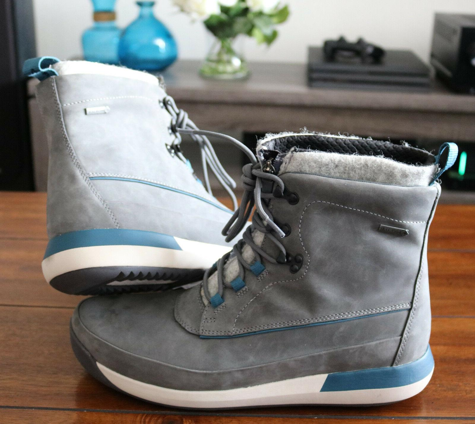 Clarks Rise Leather Gore Gray Winter/Snow