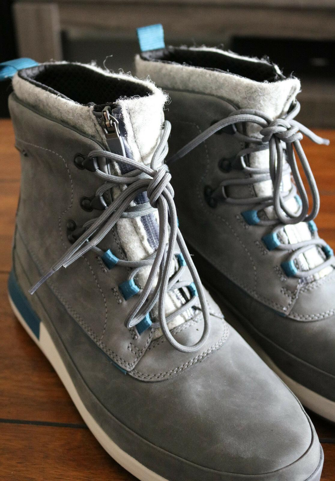 Clarks Leather Gray Winter/Snow 10