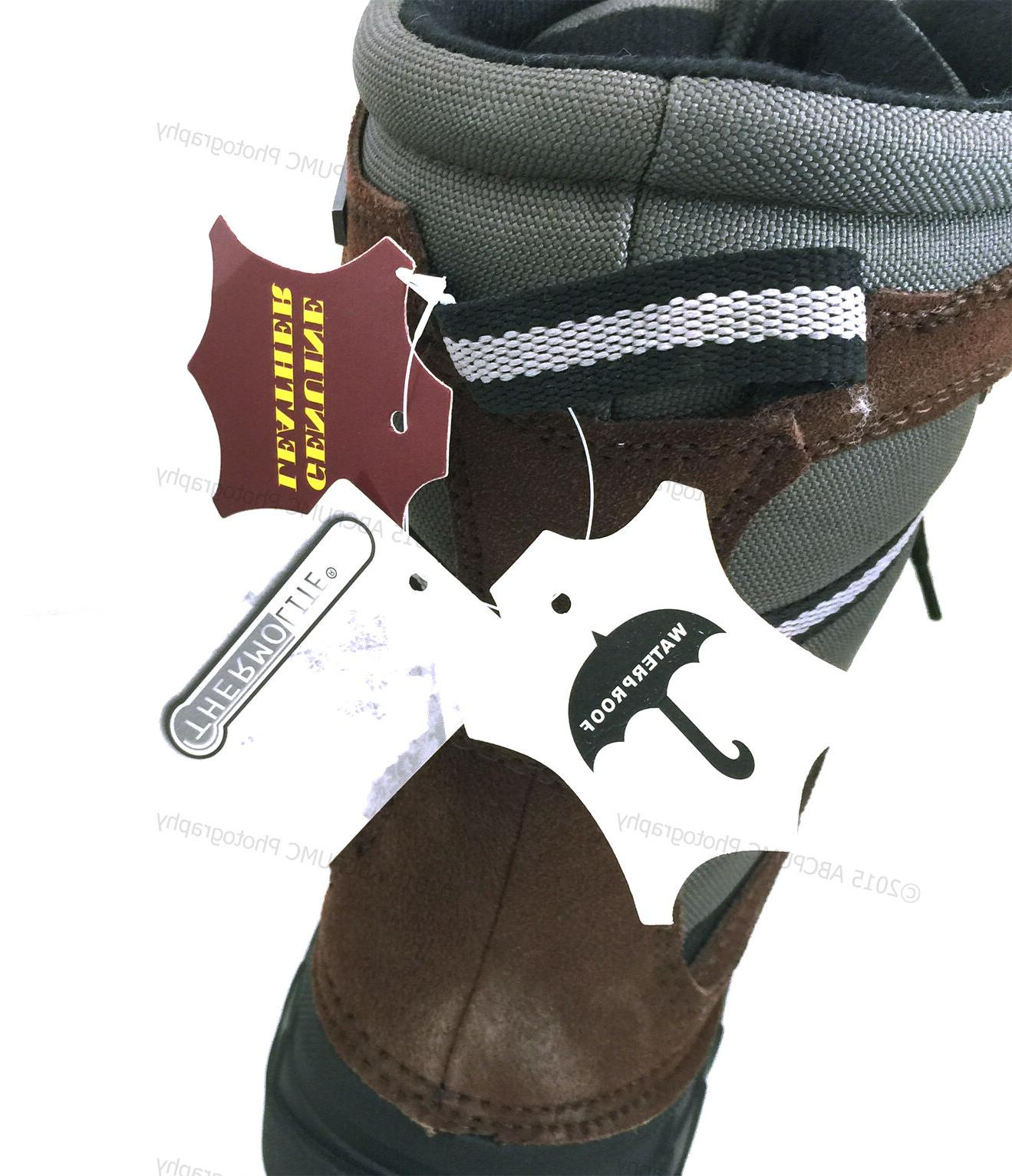 Men's Winter Boots Leather Waterproof Hunting Snow