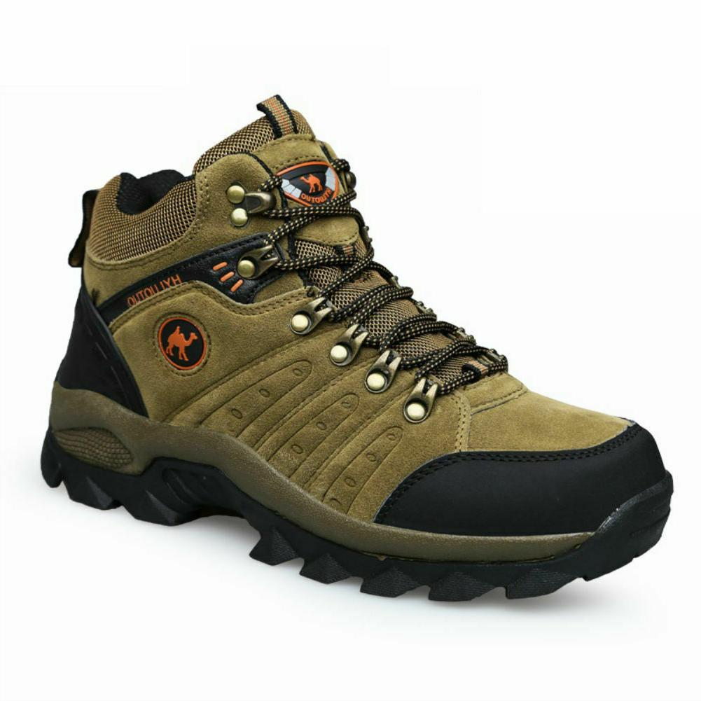Men's Waterproof Boots Mid Backpacking Lightweight Shoes