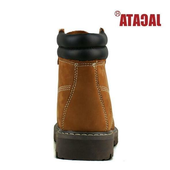 Men's Boots Wheat Black Leather 8601