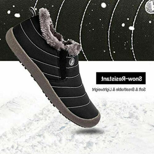 Men's Winter Warm Snow Ski Lined Ankle Boot Outdoor