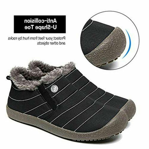 Men's Warm Snow Lined Ankle Boot Outdoor