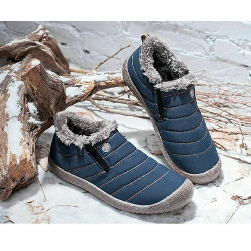 Men's Waterproof Snow Boots Lined Ankle Outdoor