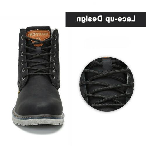 Men Boots Anti-skid Warm Up Shoes Winter F56