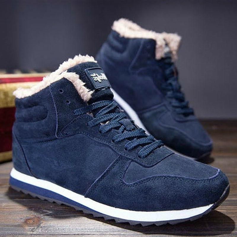 Men Women Winter  Snow Boots Plush Outdoor Work Shoes Warm B