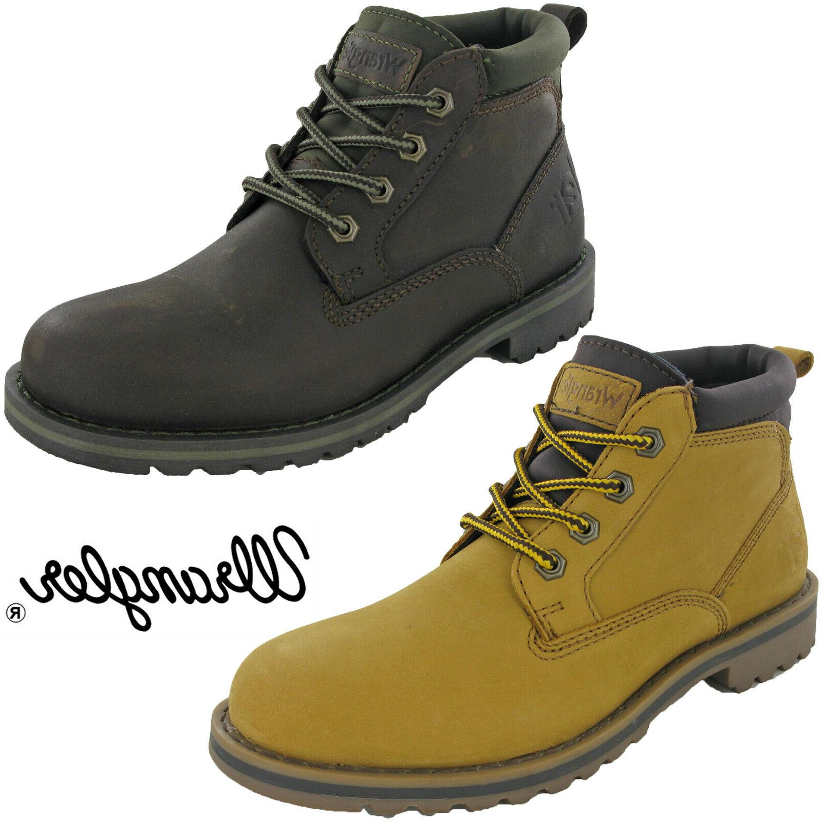 mens ankle boots leather fashion padded work