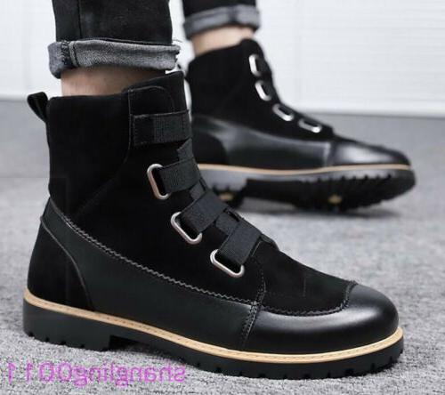 Mens Round toe Match colour Furry Lined boots