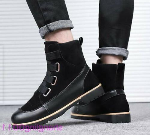 Mens toe Winter Furry Lined boots