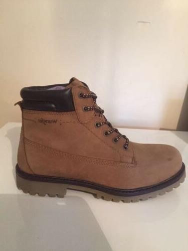 mens lace up creek taupe winter boots
