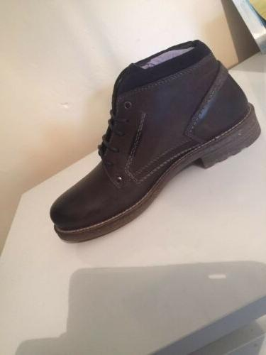 Wrangler Leather Grey Winter Boots 9 RRP £90
