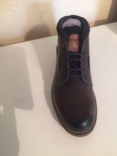Wrangler Mens Lace Leather Dark Grey Boots Shoe Size 9 £90