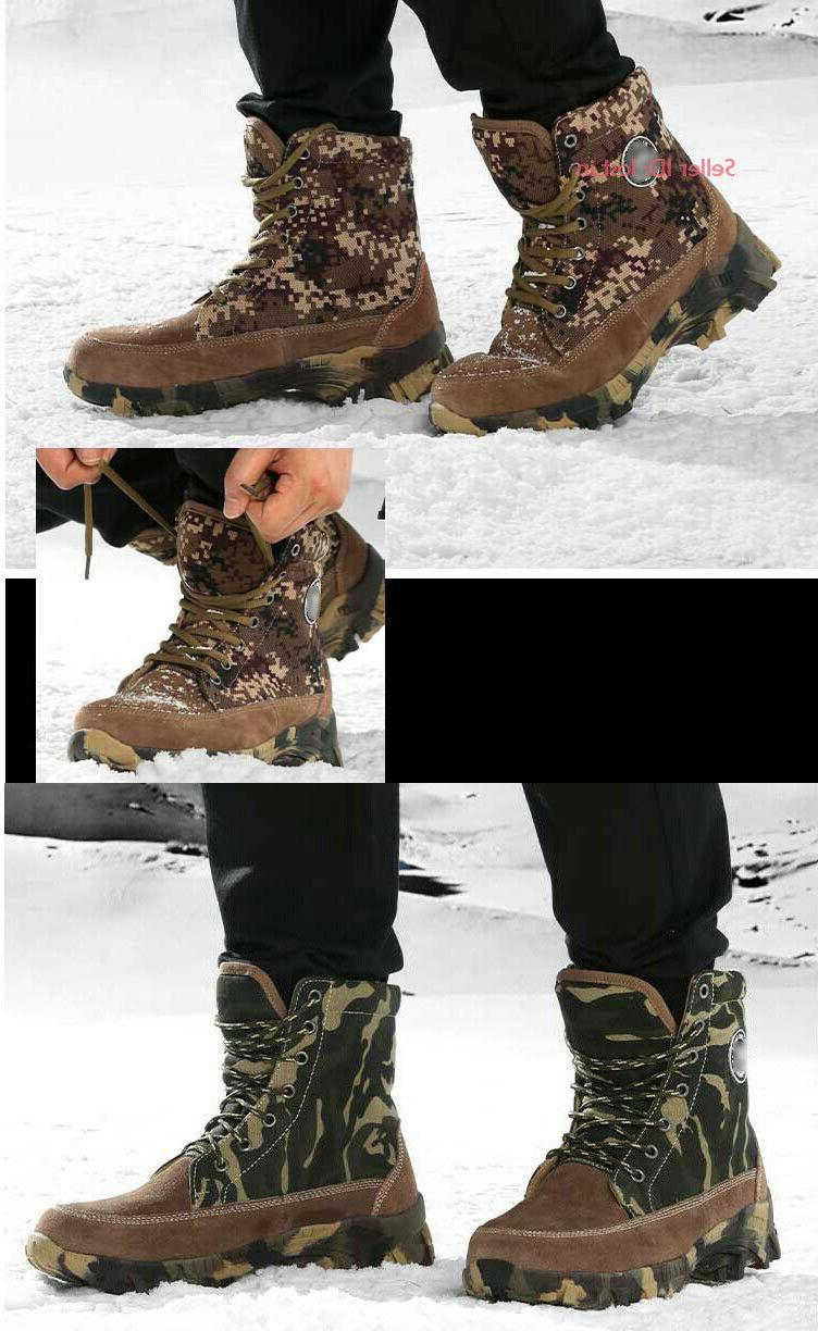 Wool Boots Camo Hiking Shoes