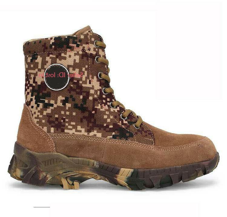 Mens Cowhide Wool Boots Hiking Shoes
