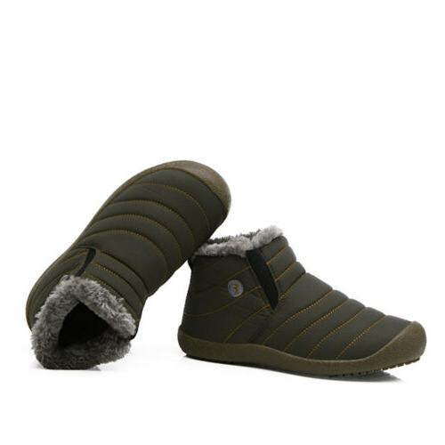 Mens Ankle Warm Shoes Casual Outdoor Waterproof