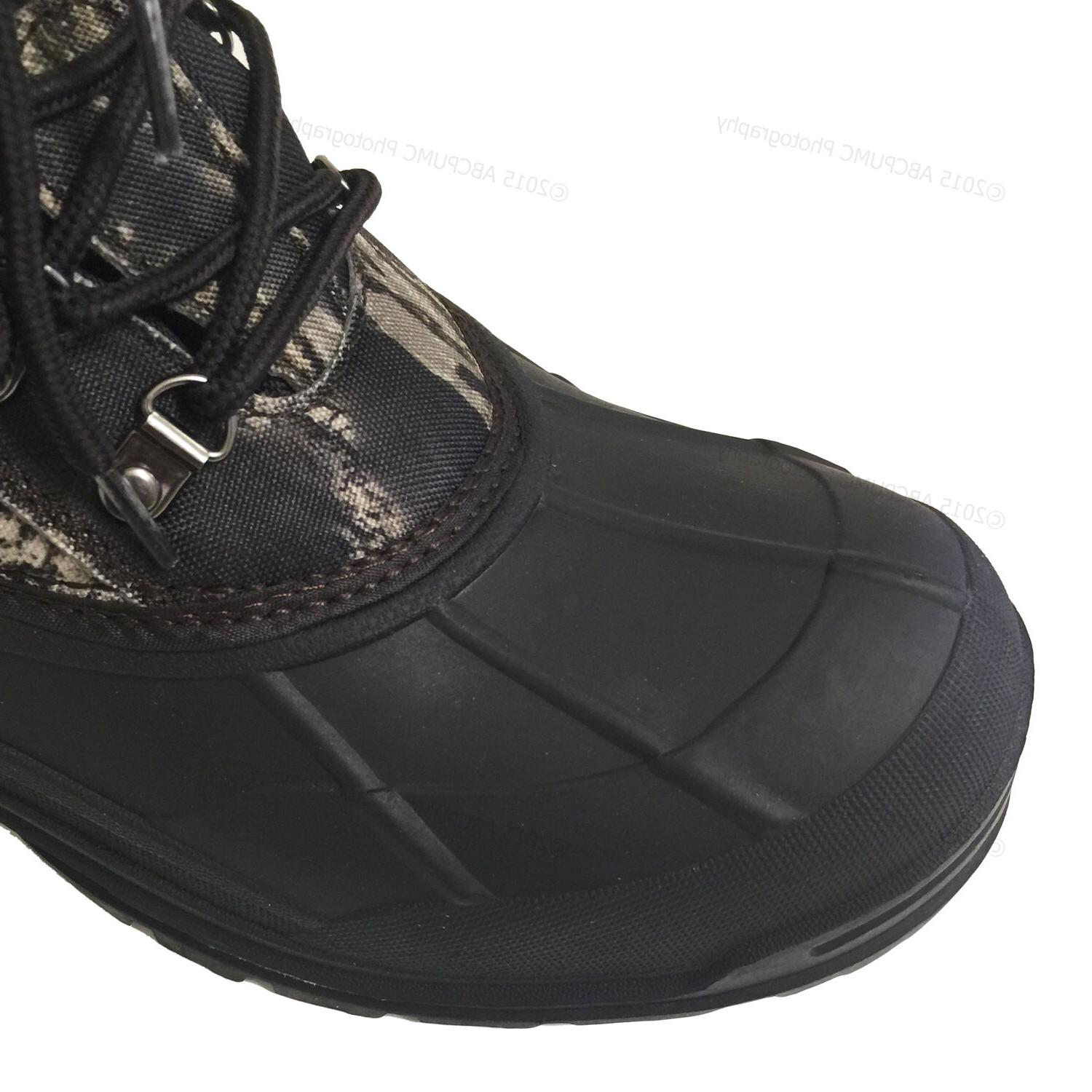 Mens Snow Boots Camouflage Insulated Hunting Thermolite Shoes