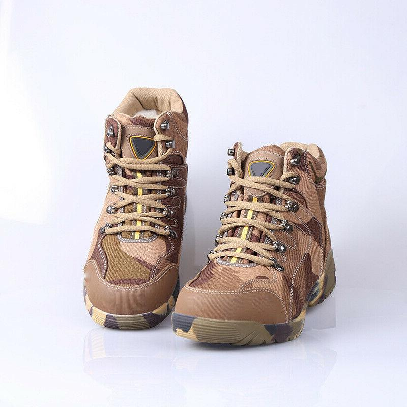 Mens Winter Warm Wool Boot Hiking Tactical Work
