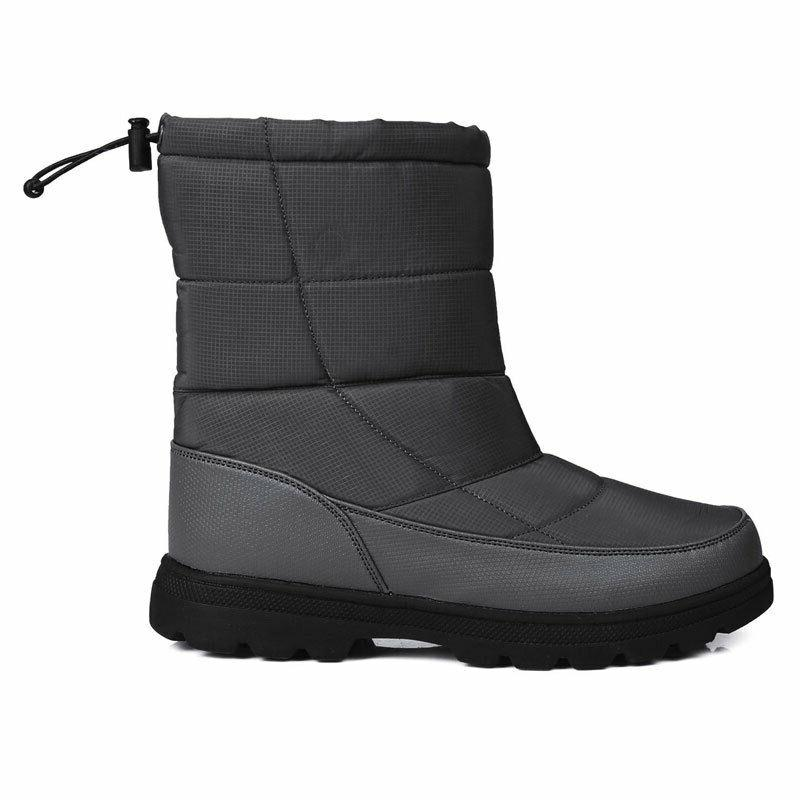 Mens Fleece Ankle Boots Snow Shoes Rubber Work Boots