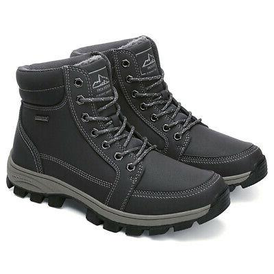 New Mens Winter Work Snow Boots Lined Shoes Waterproof Outdoor Hiking
