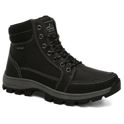 New US Mens Work Snow Lined Shoes Hiking