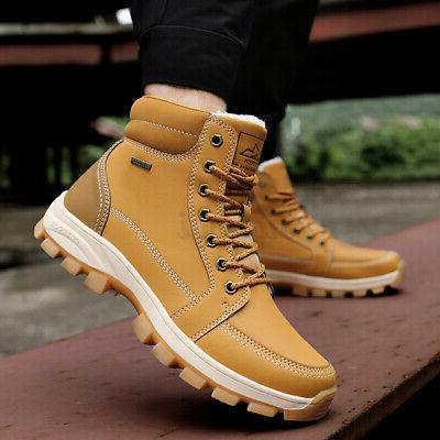 New Mens Work Lined Shoes Outdoor Hiking