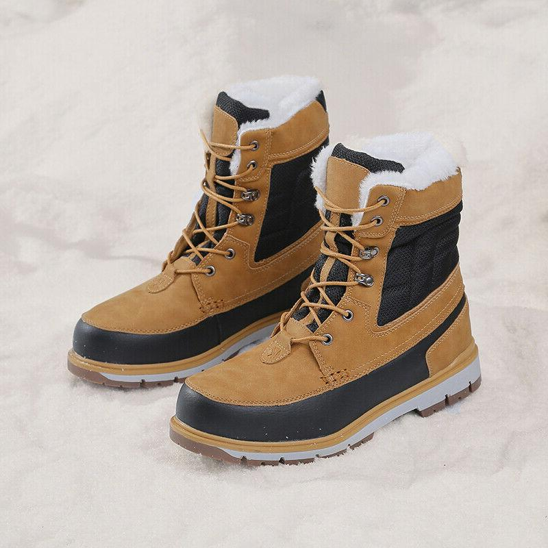 Plus Lined Winter Boots Cargo Color Matching Anti-skid Shoes