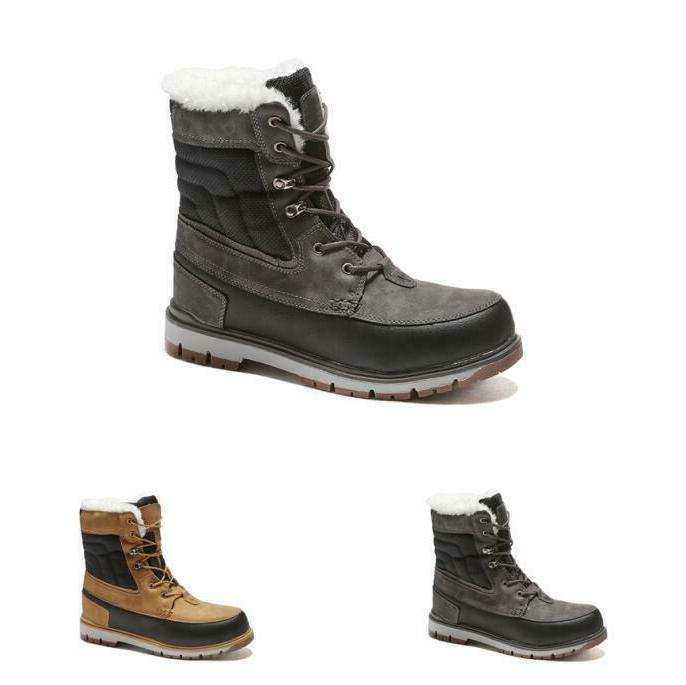 plus size mens fur lined winter boots