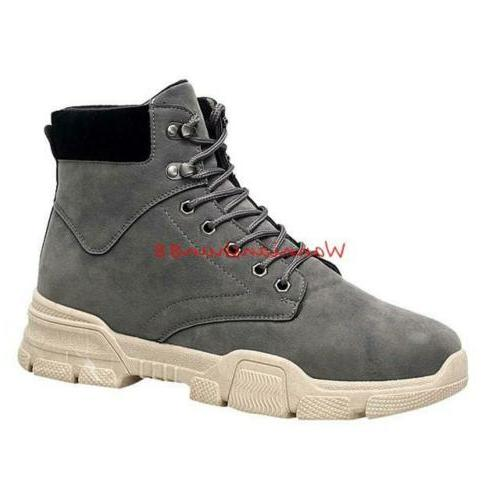 Winter Lace up High Work Boots Shoes