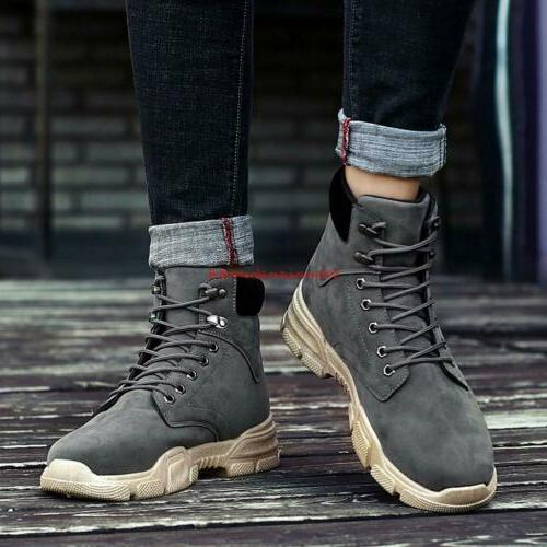 Winter Mens Lace Work Boots