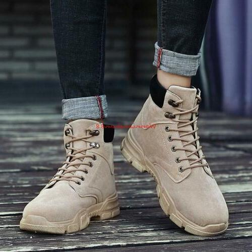 Winter Mens Lace High Top Work Boots Shoes