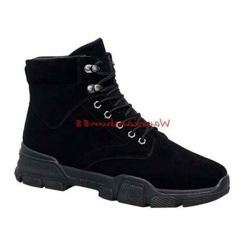 winter mens british style lace up high