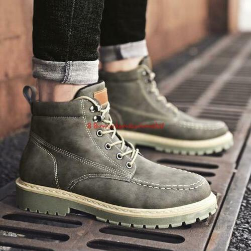 Winter Lace up Army Work new