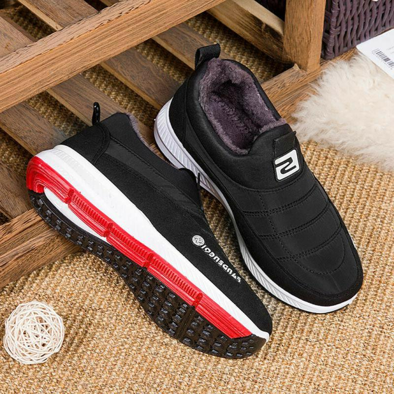 Women's Men's Casual Keep Slip On Round Boots Shoes