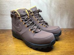 NIKE Manoa Men's Winter Boots Hiking Shoes Leather Brown Siz