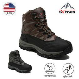 NORTIV 8 Mens Waterproof Lace Up Snow Boots Outdoor Winter W