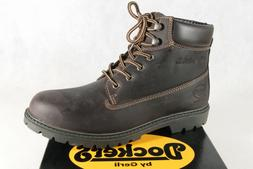 Dockers Men's Boots Winter Boots Dark Brown Real Leather 19P