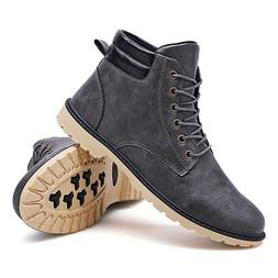 Men's Casual Ankle Boots Comfortable Lace Up Shoes Fashion P