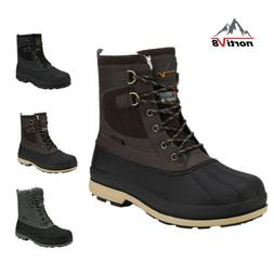 Mens Waterproof Leather Hiking Work Boots Snow Outdoor Warm